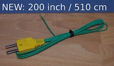 """T Type Thermocouple Wire Digital Thermometer Temperature Sensor Probe 200"""" TT1"""