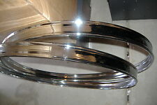 "Pair (2) New 20"" Chrome Bass Drum Metal Hoops. Room for Inlay Strip. Very Nice!"
