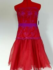 PEARL GEORGINA CHAPMAN OF MARCHESA STRAPLESS  DRESS SIZE 2 ,6,  10 NWT $140.00