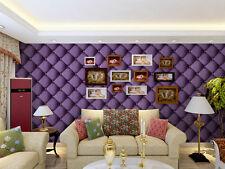 * Modern Minimalist PVC Check Pattern Bedroom/Living Room Purple Wallpaper