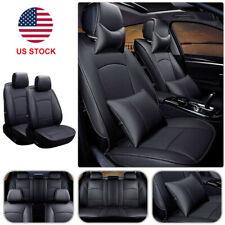 PU Leather Car Seat Cover 5 Seat Front+Rear w/Pillow Set For Ford F150 2010-2016
