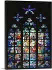 ARTCANVAS Glass Window St. Vitus Cathedral Canvas Art Print by Alphonse Mucha