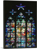ARTCANVAS Glass Window St. Vitus Cathedral Canvas Art Print by Alphonse Mucha