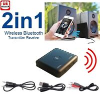 Bluetooth Receiver Wireless 3.5mm Aux adapter Audio Music streaming output input