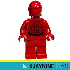 LEGO STAR CLONE WARS R-3PO Protocol Droid Red C-3PO Minifig NEW SUPER RARE