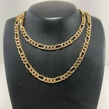 9ct Yellow Gold 56cm Solid Figaro Chain