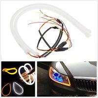 2pcs 60cm White Amber Flexible DRL Daytime Running Light LED Strip Style