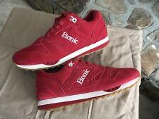 Etonic Trans Am Trainers All Red Suede Sneakers Sz 10. Little Wear.