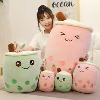 24/35/50cm Bubble Tea Boba Cup Plush Pillow Cushion Kawaii Cute Toy Xmas Gift