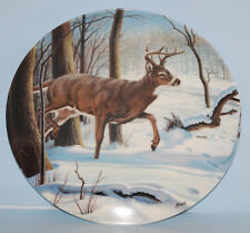 """The White-Tailed Deer"" Collectors Plate 1989 Canada's Big Game Series"