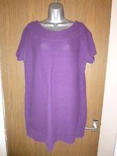 wallis purple chunky knit tunic jumper size l/large