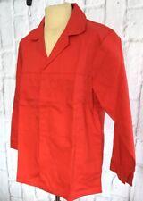 Protective Dust Jacket Coat Size 42 Red Workwear Factory Overall Protection NEW