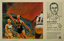 Bob Cousy CELTICS 1990 Boston Celtics Basketball Citgo poster Mike Wimmer art