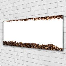 Wandbilder Glasbilder Druck auf Glas 125x50 Kaffeebohnen Küche