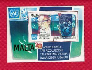 ZAYIX - 1987  Malta 709 MNH - Marine Research souvenir sheet