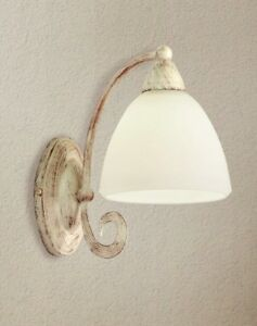 Wall Light Classic With Glass White Horn Satin