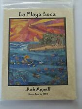 La Playa Loca Rob Appell Quilt Pattern Paper Foundation and Instructions Uncut