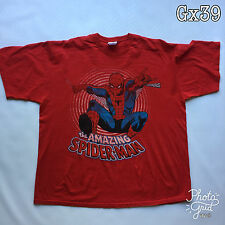 """Mens """"The Amazing Spider-Man"""" Red Size XXL Fruit of The Loom T Shirt P-P 25"""""""