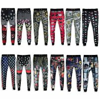 NEW Men Sublimation Print Joggers Tupac Micheal Jordan Hip Hop 12 Prints