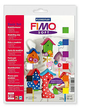 FIMO Soft Modeliermasse Basis Set Knete mit 9 verschiedenen Farben