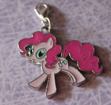 POPULAR ENAMEL GIRLS PINK MY LITTLE PONY  CLIP-ON-CHARMS,FOR BAGS/KEYRINGS,