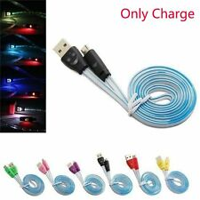 Visible Light-up Smile Face LED Charger Cable Micro USB For Android Phones