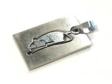 Bijou acier pendentif signe astrologique chinois rat  pendant