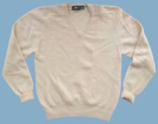 HUNT CLUB Ivory Lambswool Sweater Mens Size XL