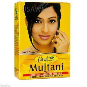 Hesh MULTANI Matti Powder Pure Natrual Face Packs 50gm x Pack Of 5 /T6