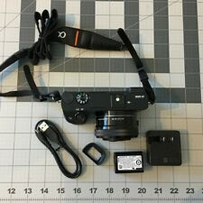 Sony Alpha α6000 24.3MP Digital SLR Camera kit 16-50mm lens, extra batteries