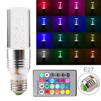 E27 RGB 16 Color 3W Home Party LED Crystal Light Bulb Lamp IR Remote Control