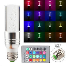 E27 RGB 16 Color Changing 3W LED Crystal Light Bulb Lamp with IR Remote Control