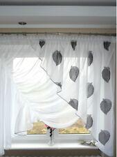 AG2 Rideau prêt à poser en voile design beau moderne feuilles fenêtre