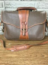 Vintage Dooney & Bourke Leather Shoulder Laptop Messenger Bag Taupe
