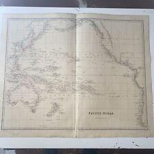 1834 Pacific Ocean J Arrowsmith Map From The London Atlas Antique