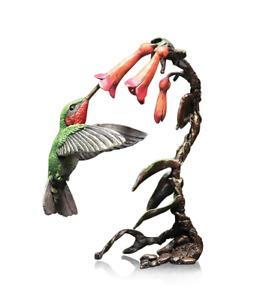 Bronze Humming bird ornament Ltd Ed 150. hand Painted. Presentation Boxed.