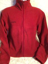 Columbia Spotswear Co Maroon Fleece Jacket Medium