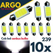 10X 239 272 C5W COB ERROR FREE FESTOON WHITE INTERIOR LIGHT BULBS SMD LED 6W CAR