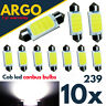 10X 239 272 C5W sin Errores LED SMD Cob Festoon Blanco Placa Bombillas
