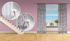 Moderne Gardinen & Vorhänge mit Schlaufenaufhängung und Blumenmuster