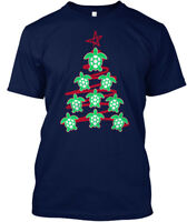 Sea Turtle Christmas Tree Hanes Tagless Tee T-Shirt