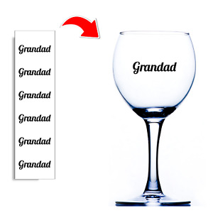 6x Grandad Stickers For Wine Glasses Tin Jar Glass Bottle Baubles Vinyl Decal