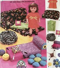 """NEW VINTAGE 2003 'SIMPLICITY' 18"""" DOLL DRESS & ACCESSORIES PATTERN 5272"""