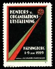 Sweden Poster Stamp - 1929, Hälsingborg - Kontorsutställning - Office Exhibition