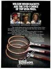 1980 John McEnroe Vitas Gerulaitis Chris Evert photo Wilson tennis print ad