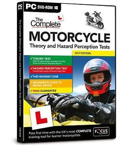 Motorcycle 2020/2021 Theory & Hazard Perception Tests PC DVD-ROM - NEW Motorbike
