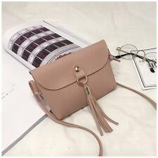Women Lady Small Bag Mini Messenger Tassel Shoulder Bags Vintage Handbag Tote RF