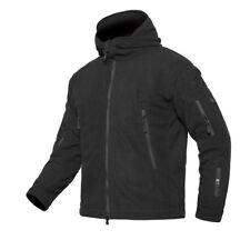 Men Tactical Recon Full Zip Hoody Combat Fleece Jacket Security Coat Black 2xl
