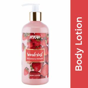 Nykaa Wanderlust Body Lotion Strawberry Daiquiri 300 ml Skin Face Body Care