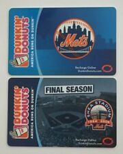 2006-08 Dunkin Donuts Gift Cards. NEW YORK METS Mint. Worldwide shipping.